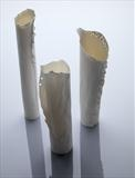 3 Translucent porcelain vessels by Joy Trpkovic B.A. MSD-C, Ceramics, Porcelain