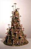 Large Funghi Tower by Joy Trpkovic B.A. MSD-C, Ceramics, Porcelain